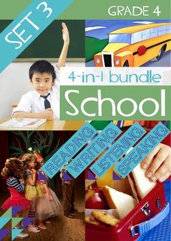 4-IN-1 BUNDLE- School (Set 3) – Grade 4
