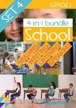 4-IN-1 BUNDLE- School (Set 4) - Grade 1