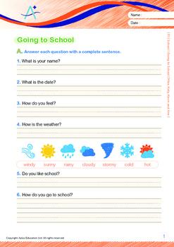 4-IN-1 BUNDLE - School (Set 5) Grade 1 ('Triple-Track Writing Lines')