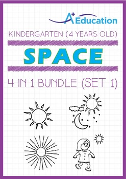 4-IN-1 BUNDLE - Space (Set 1) - Kindergarten, K2 (4 years old)