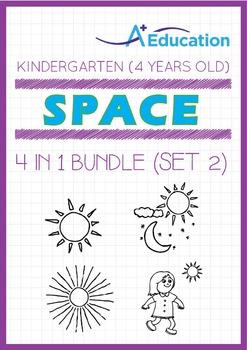 4-IN-1 BUNDLE - Space (Set 2) - Kindergarten, K2 (4 years old)