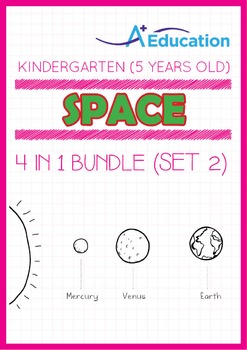 4-IN-1 BUNDLE - Space (Set 2) - Kindergarten, K3 (5 years old)