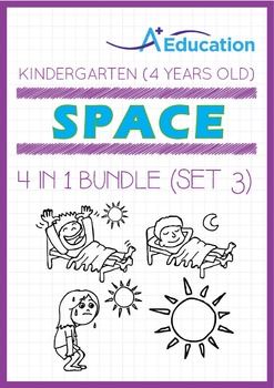 4-IN-1 BUNDLE - Space (Set 3) - Kindergarten, K2 (4 years old)