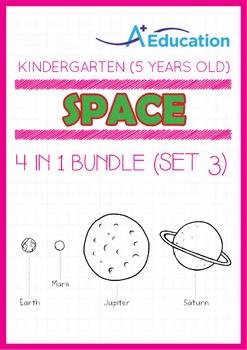 4-IN-1 BUNDLE - Space (Set 3) - Kindergarten, K3 (5 years old)
