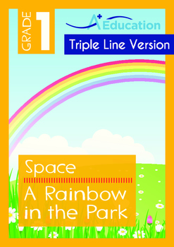 4-IN-1 BUNDLE- Space (Set 4) - Grade 1 (with 'Triple-Track Writing Lines')