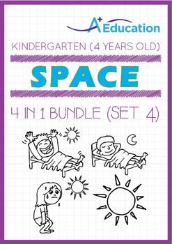 4-IN-1 BUNDLE - Space (Set 4) - Kindergarten, K2 (4 years old)