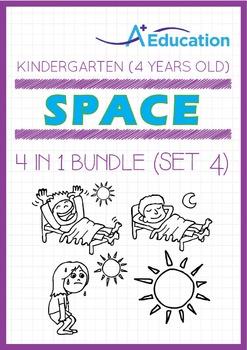 4-IN-1 BUNDLE - Space (Set 4) - Kindergarten, K2 (4 years old)