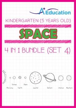 4-IN-1 BUNDLE - Space (Set 4) - Kindergarten, K3 (5 years old)