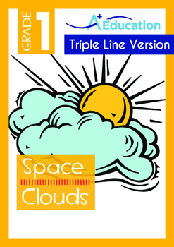 4-IN-1 BUNDLE- Space (Set 7) - Grade 1 (with 'Triple-Track Writing Lines')