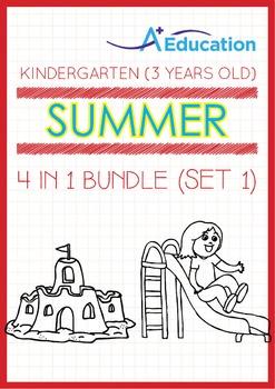 4-IN-1 BUNDLE - Summer Fun (Set 1) - Kindergarten, K1 (3 years old)