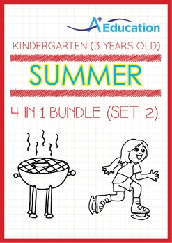 4-IN-1 BUNDLE - Summer Fun (Set 2) - Kindergarten, K1 (3 years old)