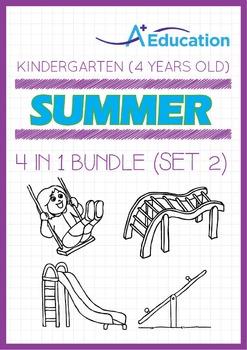 4-IN-1 BUNDLE - Summer Fun (Set 2) - Kindergarten, K2 (4 years old)
