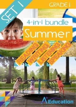 4-IN-1 BUNDLE- Summer (Set 1) – Grade 1