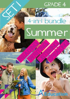 4-IN-1 BUNDLE- Summer (Set 1) – Grade 4