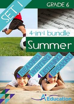 4-IN-1 BUNDLE- Summer (Set 1) – Grade 6