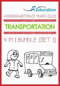 4-IN-1 BUNDLE - Transportation (Set 1) - Kindergarten, K1 (3 years old)