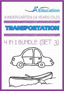 4-IN-1 BUNDLE - Transportation (Set 3) - Kindergarten, K2 (4 years old)