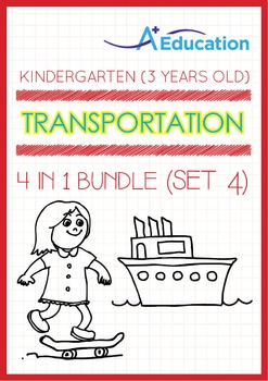 4-IN-1 BUNDLE - Transportation (Set 4) - Kindergarten, K1