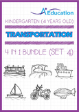 4-IN-1 BUNDLE - Transportation (Set 4) - Kindergarten, K2 (4 years old)