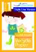 4-IN-1 BUNDLE- World Issues (Set 2) - Grade 1 ( 'Triple-Track Writing Lines')