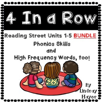 4 In a Row BUNDLE...Reading Street Units 1-5
