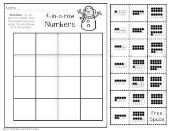 4 In a Row Bingo: January 10 frames to 20