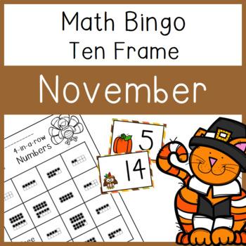 10 frame Bingo: November