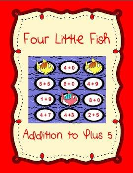 4 Little Fish Printable Math File Folder Game Addition Plu