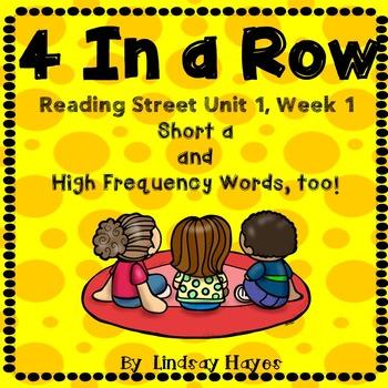4 In a Row: Reading Street Skills Unit 1, Week 1 - Short a