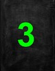 4 Inch Printable Bright Colorful Numbers With Chalkboard Background