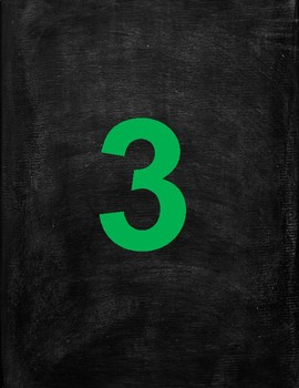4 Inch Printable Colorful Numbers With Chalkboard Background