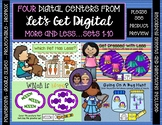 4 Interactive Digital Task Card Centers - Comparing Sets 1-10 (More and Less)