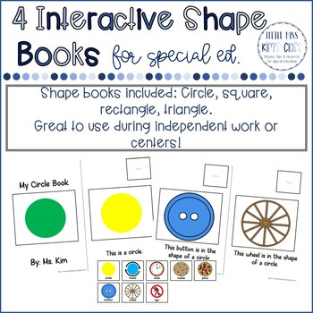 4 Interactive Shapes Books