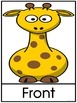 Zoo or Jungle Position Word Posters Left, Right, Front and Back
