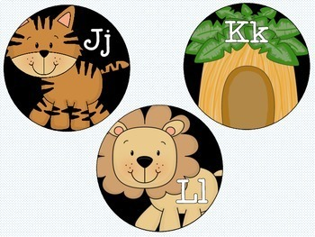 "4"" Jungle Themed Word Wall Headers"