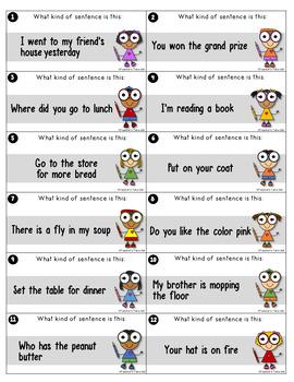 4 Kinds of Sentences Activity Pack