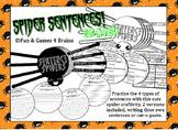 4 Kinds of Sentences Spider shaped book Craftivity!