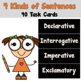4 Kinds of Sentences Task Cards_Declarative Interrogative Imperative Exclamatory