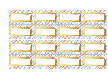 Blank LABELS - use for TASK, or FLASH cards - 3 pgs, 3 sizes - editable