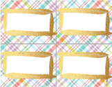 Blank LABELS - use for TASK, or FLASH cards - 3 pgs, 3 siz