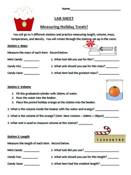 4 Lab Comprehensive Christmas/Winter Packet