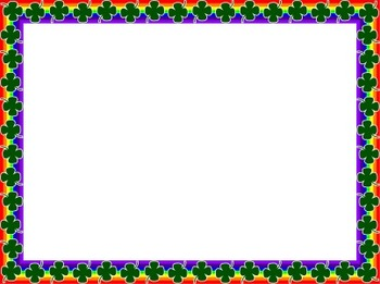 4 Leaf Clover & Rainbow Borders