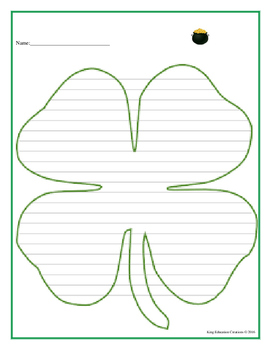4 Leaf Clover Writing Paper
