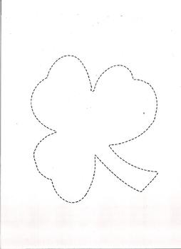 4 Leaf Clover with Dotted Line