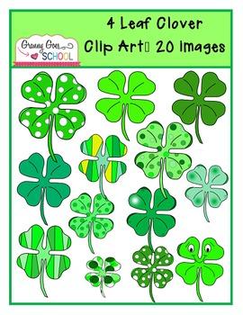 4-Leaf Clovers: Clip Art