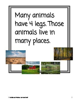 4 Legs- Informational Text (level 3-4)
