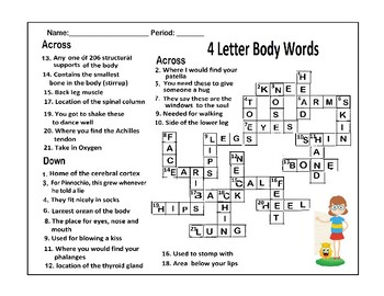 Human Body Sytems Crossword Puzzle