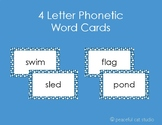 4 Letter Phonetic Word Cards