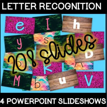 4 Letter Recognition PowerPoints