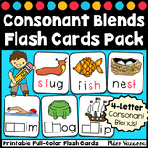Initial And Final Consonant Blends Printable Flash Cards